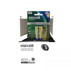 Alkaline maxell AA battery